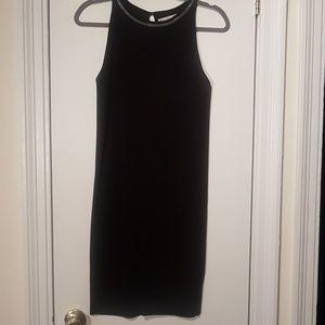 Zara Black Sheath Dress with Silver Chain Detail